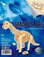 Брахиозавър - Дървен 3D пъзел - пъзел