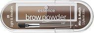 Essence Brow Powder Set Mix & Match - Сенки за вежди с четка - душ гел