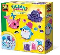 Направи сам - Морски приятели - Творчески комплект с пластилин - творчески комплект