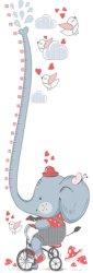 Ръстомер - Слонче - Детски метър-стикер за измерване на височина от 50 cm до 150 cm -