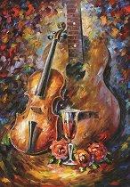 Китара и цигулка - Леонид Афремов (Leonid Afremov) - пъзел