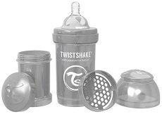 Бебешко шише за хранене с широко гърло - Twistshake Pearl 180 ml -