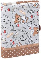 Ръчно изработена текстилна подвързия за книга - Доктор Мечо -