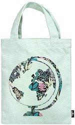 Текстилна чанта за книги - Зелена планета -