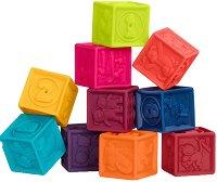 """Меки кубчета - Комплект от 12 броя от серията """"B Toys"""" - играчка"""