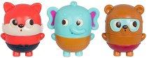 """Играчки за баня - Слонче, лисица и мече - Комплект от 3 броя от серията """"B Toys"""" - играчка"""