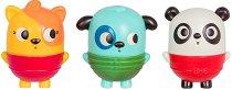 """Играчки за баня - Коте, куче и панда - Комплект от 3 броя от серията """"B Toys"""" - играчка"""