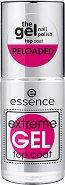 """Essence Extreme Gel Top Coat - Топ лак за нокти с гел ефект от серията """"Gel Nail Polish"""" - шампоан"""