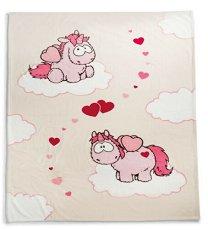 """Детско микрофибърно одеяло - Еднорог - С размери 125 x 160 cm от серията """"Theodor & Friends"""" -"""