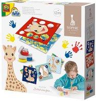 """Рисувай с пръсти - Жирафчето Софи - Творчески комплект от серията """"My First"""" - кукла"""