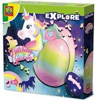 """Яйце с изненада - Еднорог - Детска играчка от серията """"Откривател"""" - образователен комплект"""