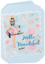 Поздравителна картичка - Hello Beautiful -