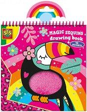 Magic sequins - Книжка за оцветяване с пайети -