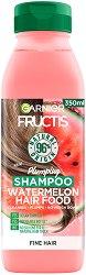 Garnier Fructis Plumping Watermelon Hair Food Shampoo - Уплътняващ шампоан за тънка коса с екстракт от диня - маска