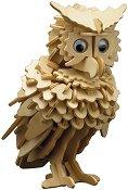 Бухал - Дървен 3D пъзел -