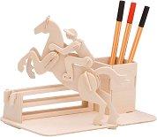 Моливник - Конен спорт - Дървен 3D пъзел -