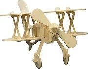Биплан - Дървен 3D пъзел -