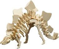 Скелет на Стегозавър - Дървен 3D пъзел -