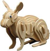 Заек - Дървен 3D пъзел -