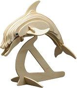 Делфин - Дървен 3D пъзел -
