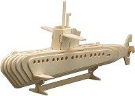 Подводница - Дървен 3D пъзел -