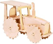 Трактор - Дървен 3D пъзел -