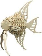 Рибка - Дървен 3D пъзел -