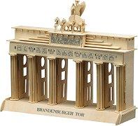 Бранденбургската порта - Дървен 3D пъзел -