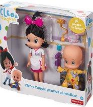 """На преглед при доктор Клео - Комплект от 2 кукли и аксесоари от серията """"Cleo and Cuquin"""" -"""