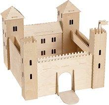 Замък - Дървен 3D пъзел - играчка