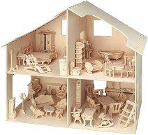 Къща за кукли - Дървен 3D пъзел -