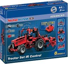 """Трактор с дистанционно управление - 8 в 1 - Детски конструктор със светлинни и звукови ефекти от серията """"Advanced"""" - играчка"""
