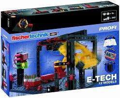"""Електронна технология - E-Tech 12 в 1 - Детски сглобяем комплект със светлинни ефекти от серията """"Profi"""" -"""