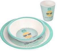 Бамбуков комплект за хранене - So Cool Turquoise - продукт