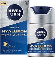 Nivea Men Anti-Age Hyaluron Face Moisturising Cream - SPF 15 - Хидратиращ крем за мъже против бръчки - крем