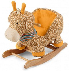 Детска дървена люлка - Жирафчето Грета - детска бутилка