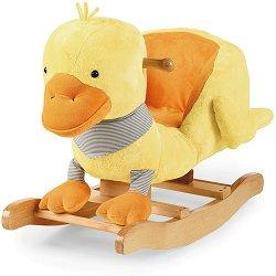 Детска дървена люлка - Пате - играчка