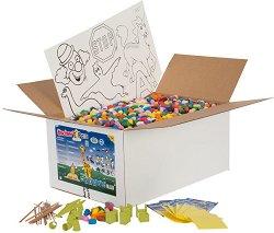 Комплект с 5000 пръчици - Детски еко конструктор -