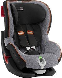 Детско столче за кола - King II LS Black Series: Black Marble - За деца от 9 до 18 kg -