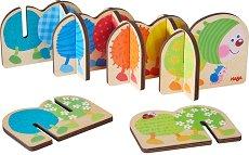 Цветна гъсеничка - Детска дървена играчка -