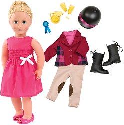 """Кукла Лили Анна - 46 cm - В комплект с аксесоари от серията """"Our Generation"""" -"""