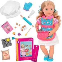 """Кукла Джени - 46 cm - В комплект с аксесоари и книга от серията """"Our Generation"""" -"""