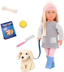 """Кукла Меган - 46 cm - В комплект с аксесоари от серията """"Our Generation"""" -"""
