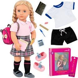 """Кукла Хали - 46 cm - В комплект с аксесоари и книга от серията """"Our Generation"""" -"""