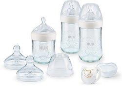 Комплект за новородено - Nature Sense - С шишета, биберони и залъгалка -