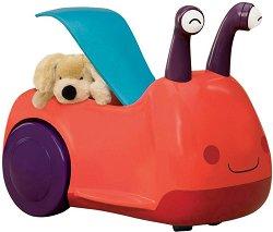 """Охлювче - Детска играчка за яздене със светлинни и звукови ефекти : От серията """"B Toys"""" -"""