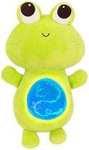 """Жабка със светещо коремче - Детска музикална играчка от серията """"B Toys"""" -"""