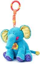 Слончето Калео - Мека играчка за бебешка количка или легло -