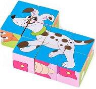 Дървени кубчета - Детски комплект за игра -