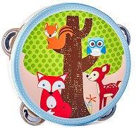 Дайре - Приятели от гората - Детски дървен музикален инструмент -